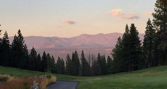 Incredible evening and day at Shaffers Mill GC and lake club. Number 17 with a view of lady rose (Mt. Rose).