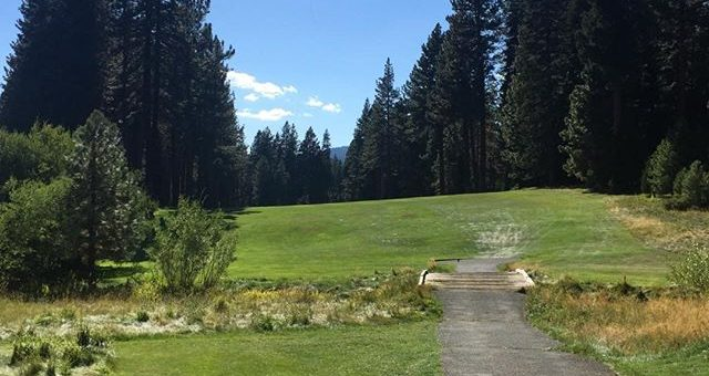 old Brockaway GC. Lake Tahoe oldest and first golf course. 1924.