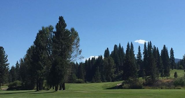 Officially partly cloudy now. Plumas pines GC. Thx to Brandon and staff. Course is lush greens are rolling 11.